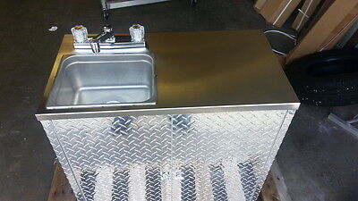 Portable Self Contained Single Sink , Food Truck / Trailer Hot Water