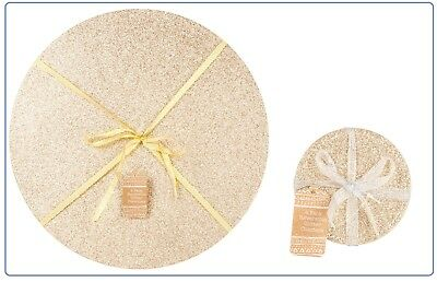 Christmas Table Dinner Decoration Reversible Glitter Gold Placemats Coaster