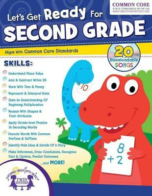 NEW 256-Page Let's Get Ready for Second Grade Educational Workbook