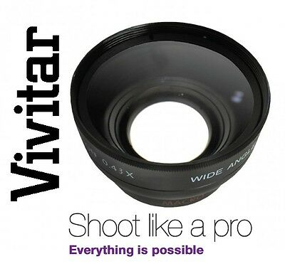 Vivitar HD4 Optics 0.43x HD Wide Angle W/Macro Lens For Fujifilm X-E1 X-T1 X-T10