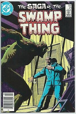 🔥🔥saga Of Swamp Thing #21**(Feb 1984, Dc)**1St Alan Moore**newsstand**vf-🔥🔥