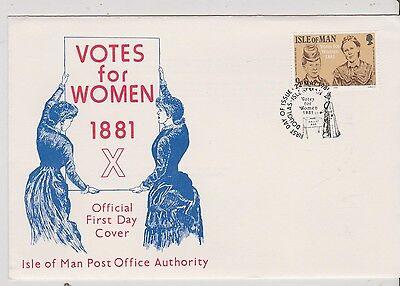 FDC - IOM - Votes for Women, 1881 - 1981 - (514) (X))