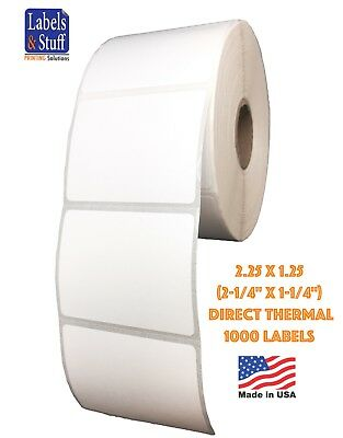 "6 Roll 2.25""x1.25"" Direct Thermal Barcode Label Zebra LP2824 TLP2824 LP2844"