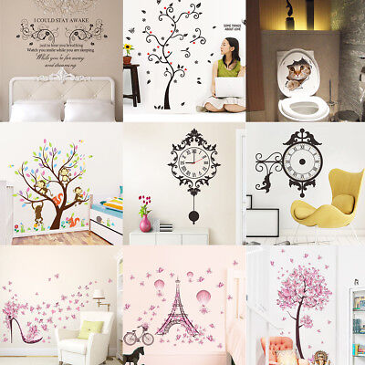 Removable Art Quote Wall Decal Stickers Bedroom Mural DIY Home Room Decoration