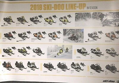 2018 SKI-DOO Line up poster Original 36x24