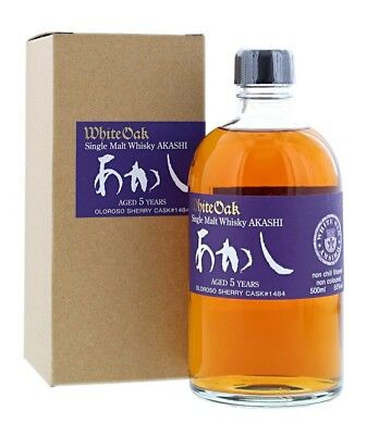 White Oak Akashi 5 YO Oloroso Sherry Cask Japanese Single Malt Whisky 500ml