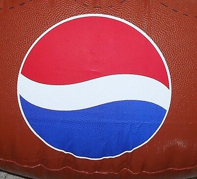 """Xmas Is 45 Days Out Pepsi Cola Logo Inflatable Football """"new"""" Nos Promo Apprx 2'"""