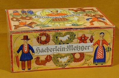 Rare Vtg. German Nurenberger Lebkuchen Wood Cookie Box, So Christmassy!