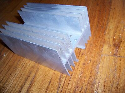 "2-sided aluminum heatsink heat sink 6"" x 4"" x 3"""