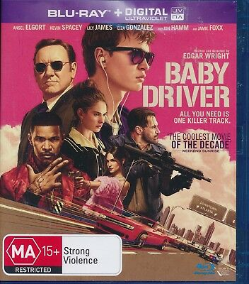 Baby Driver Blu-ray,NEW Kevin Spacey Ansel Elgort