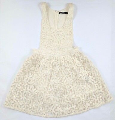 Ark & Co White Floral Daisy Lace Pinafore Jumper Lolita Sweet Romantic Size S