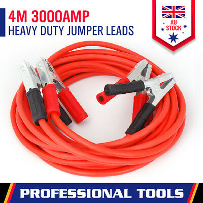 3000Amp Heavy Duty Jumper Leads 4M Long Jump Booster Cables 4WD Trcuk Battery