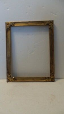Antique Art Nouveau Newcomb Macklin Style Hand Carved Gilded  Picture Frame Nice