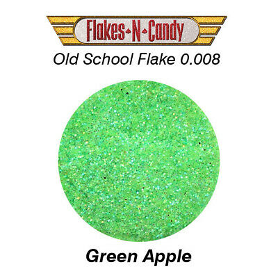 METAL FLAKE GLITTER (0.008) CUSTOM PAINT METAL FLAKES 30G Green Apple