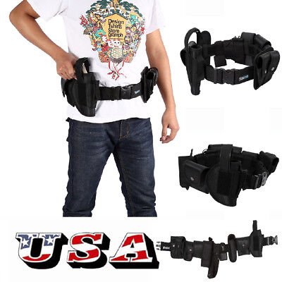 Police Security Guard Modular Enforcement Equipment Duty Belt Tactical Nylon US