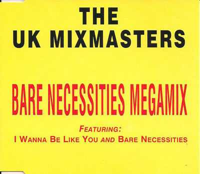 The Uk Mixmasters Bare Necessities Megamix 3 Track Cd Single Jungle Book Free P&