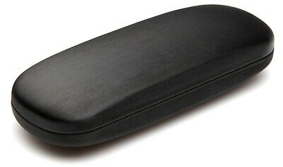 NEW Clam Shell Hard Eyeglasses Glasses Case Black w/ Microfiber Cleaning Cloth