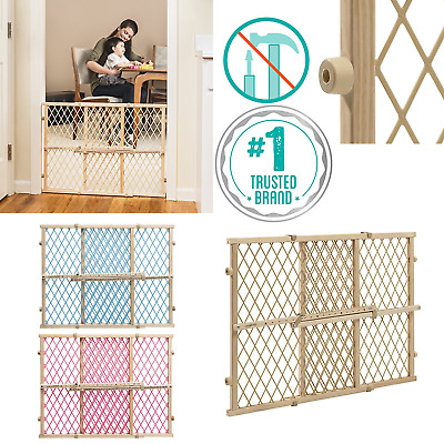 EVENFLO Lock Pressure Mount BABY GATE Extra Wide Through Tall Pet Door Safety