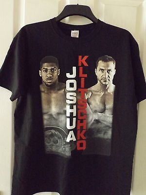 Joshua V Klitschko Used Ticket, Programme And Large T Shirt Wembley 29/04/17