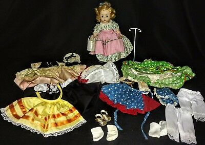 """Vintage Madame Alexander 7"""" Doll Mary Mary Lot Bent Knee Wendy Face"""