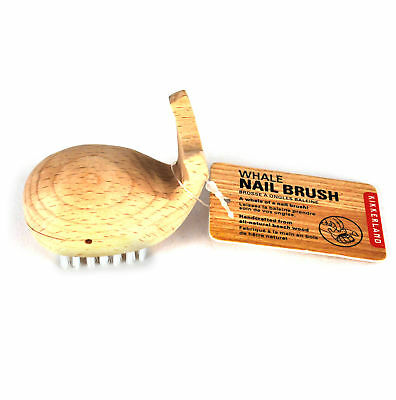 Wooden Whale Nail Brush