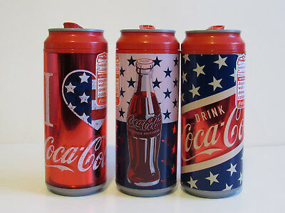 Coca Cola Insulated Tumbler 16 Oz Twist off Top with slide tab opening 3 Tumbler