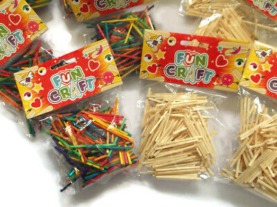 12x Packs Of Match Sticks Childrens Kids Arts And Crafts Matchsticks