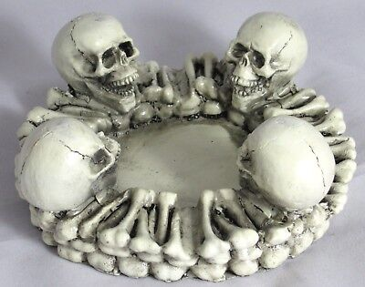 Large Skull Smoking Ashtray Cigarette Tobacco Best Gift Home Decor #4