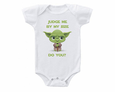 Cute Star Wars Yoda Baby Onesie or Tee Shirt Shower Gift Funny