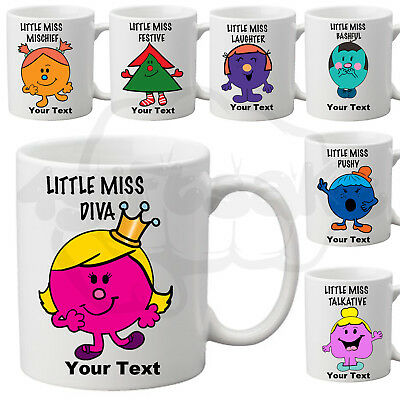 Personalised Mug Cup Tea Coffee Cup Your Name Inspired By Little Miss Characters
