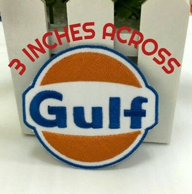 ↗ 2 Gulf Service Station ↖ Oil Gas 3 Inch Sew-On Or Iron-On Patches