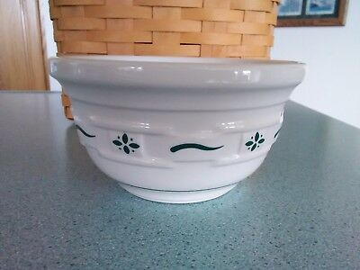Longaberger made in USA Pottery small Mixing Bowl Heritage green New no box
