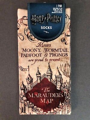 Neu Harry Potter Damen Socken Hogwarts Marauder's Map Strümpfe 37-42 Primark