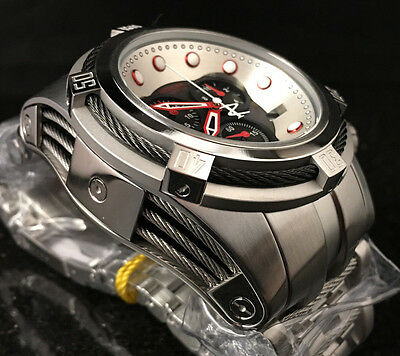 @New Invicta Reserve 52mm Bolt Zeus Quartz Chronograph 22158 Stainless Bracelet