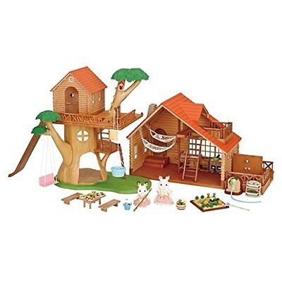 Sylvanian Families Treehouse & Log Cabin Gift Set Brand New & Sealed