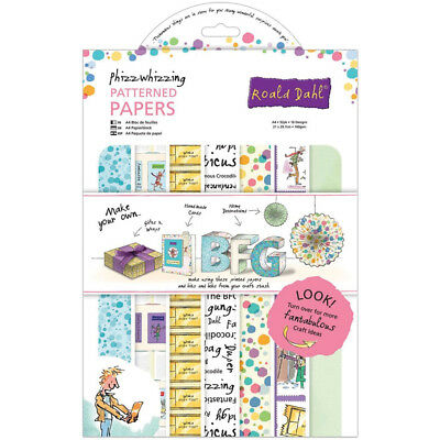 Roald Dahl A4 Paper Pack 32/Pkg-Phizz-Whizzing, Part RL160101, by Docrafts, Scra