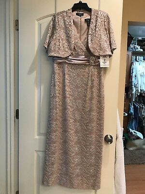 R&M Richards Dress, Mother Of The Bride, Size 14P, Floor Length, NWT