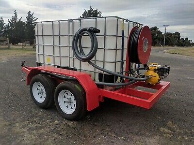 2000ltr Fire Ready Trailers Fire Fighting Trailer with Davey Honda Pump