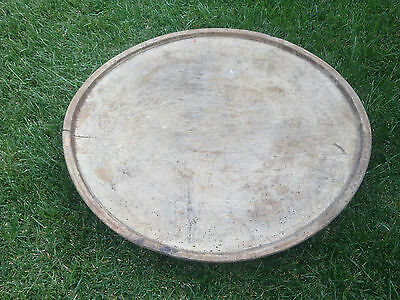 Primitive antique Ottoman Turkish wooden round dining table 18th century - 6kg