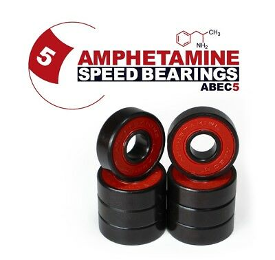 AMPHETAMINE Speed Bearings Kugellager für Skateboard/Longboard ABEC-5 / 7-Ball