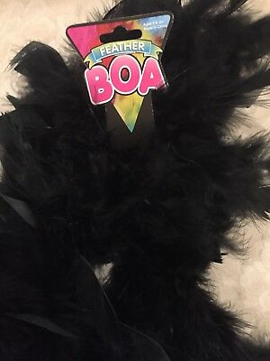 6 Feet Long Black Feather Boa Great For Parties Crafts Fun Glamor