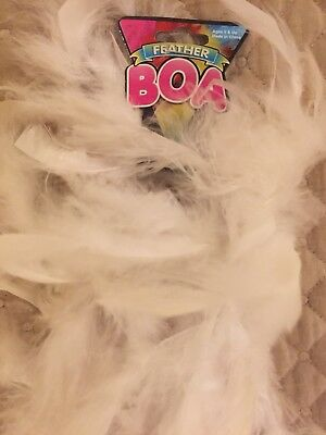 6 Feet Long White Feather Boa Great For Parties Crafts Fun Glamor