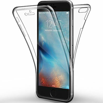 Cover Per Iphone 6/6S Apple Full Body 360 Fronte Retro Custodia Trasparente