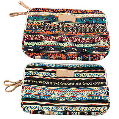 Bohemian Design 12  14  15 Inch Canvas Laptop Bag Notebook Sleeve Case Pouch C2
