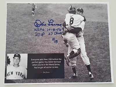 DON LARSEN WORLD SERIES PERFECT GAME SIGNED A4 Ltd Ed PRINT PROOF COA BASEBALL