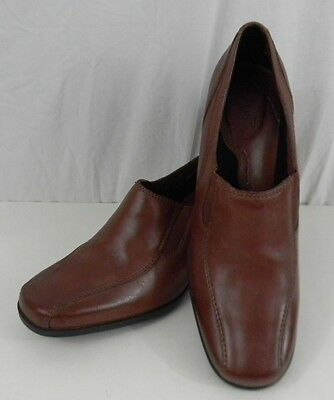 Clarks Brown Leather Upper Oxford Womens 10N Shoes 2.25