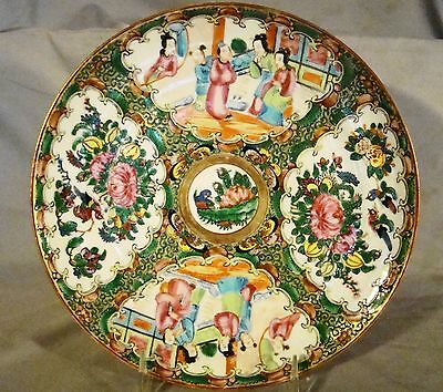 Excellent Early High Quality Painting Chinese Export Rose Medallion Plate 19th c