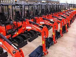 Kubota U17-3 1.7 Tonne Mini Excavator Hire $230 a Day - Delivery Available