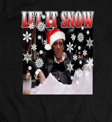 Scarface Tony Montana Let It Snow Xmas Sweater Soldskool Shirt Many