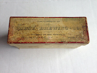 Pabst Brewing Co. box for etched glasses from Milwaukee, Wisconsin, 1889